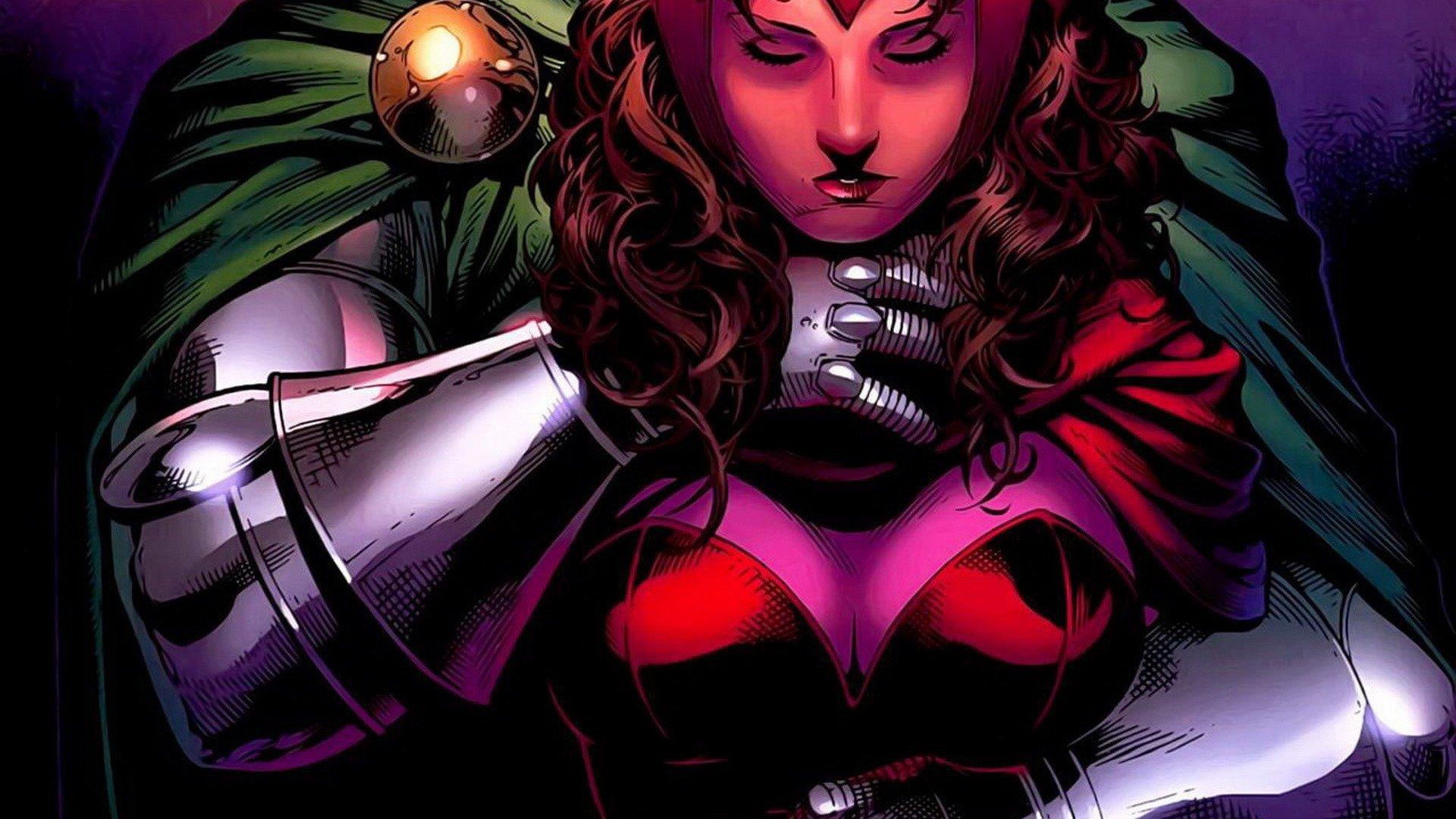Comics Marvel Scarlet Witch Girls Dr Doom Avengers Wallpaper