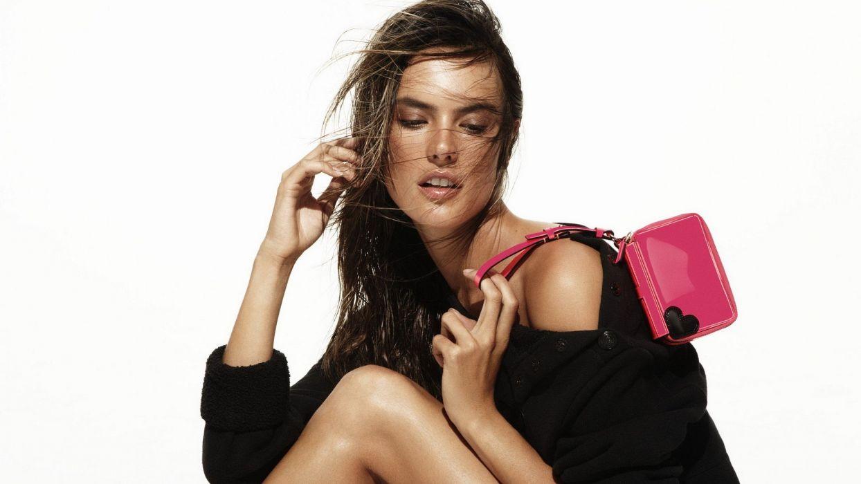 women Alessandra Ambrosio models wallpaper