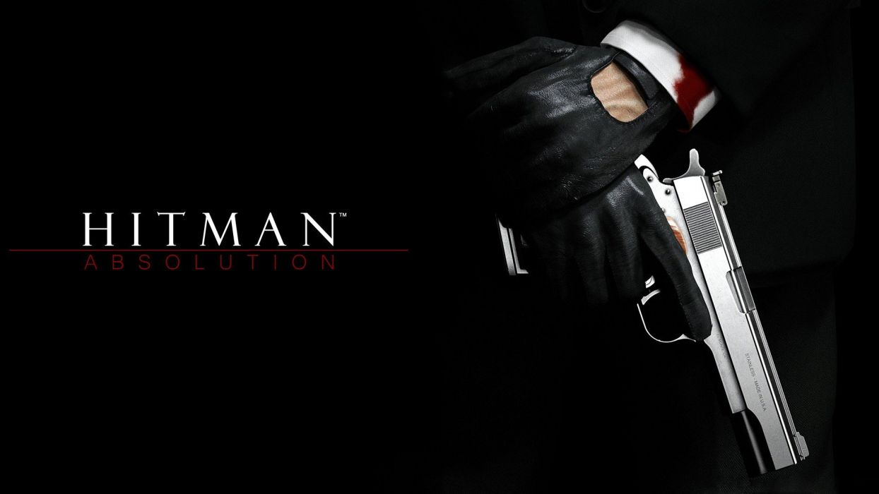 pistols blood Hitman Hitman Absolution Agent 47 wallpaper