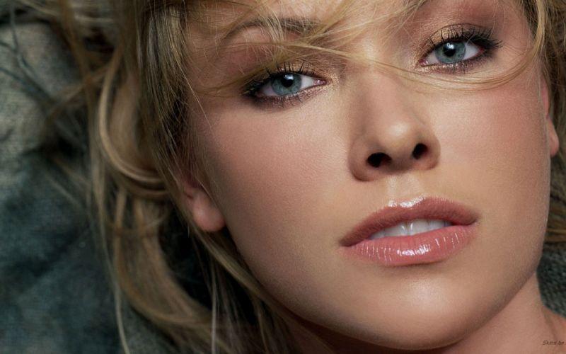 women actress Kristanna Loken faces wallpaper