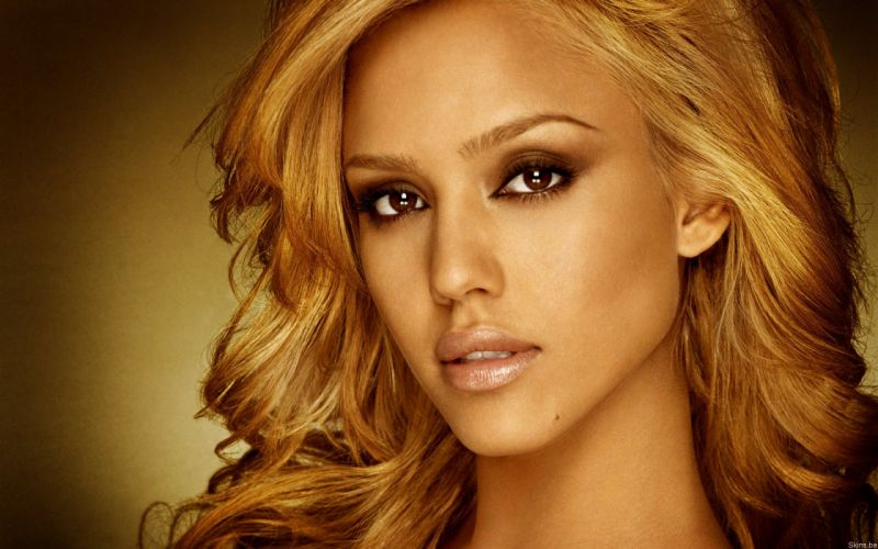 blondes women Jessica Alba actress faces wallpaper