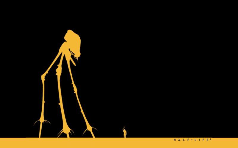 video games Half-Life Gordon Freeman Half-Life 2 simple background Striders (Half-Life) wallpaper