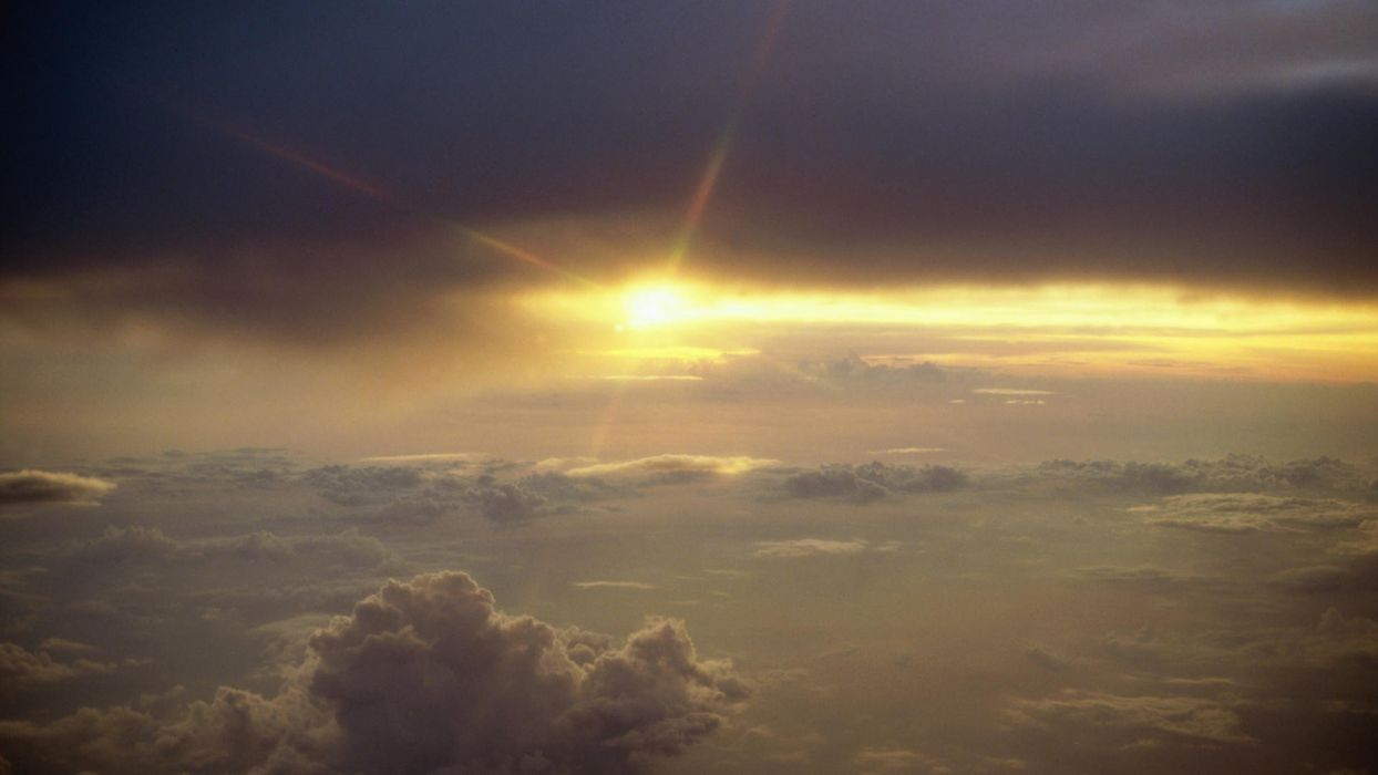 light Sun skyscapes wallpaper