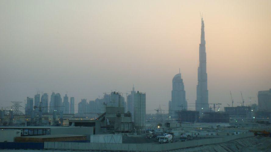 cityscapes architecture buildings Dubai industrial plants city skyline Burj Khalifa wallpaper