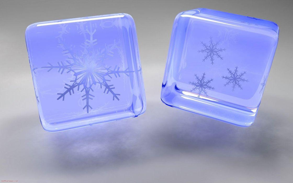 CGI snowflakes cubes wallpaper