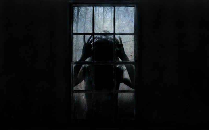 dark scary window wallpaper