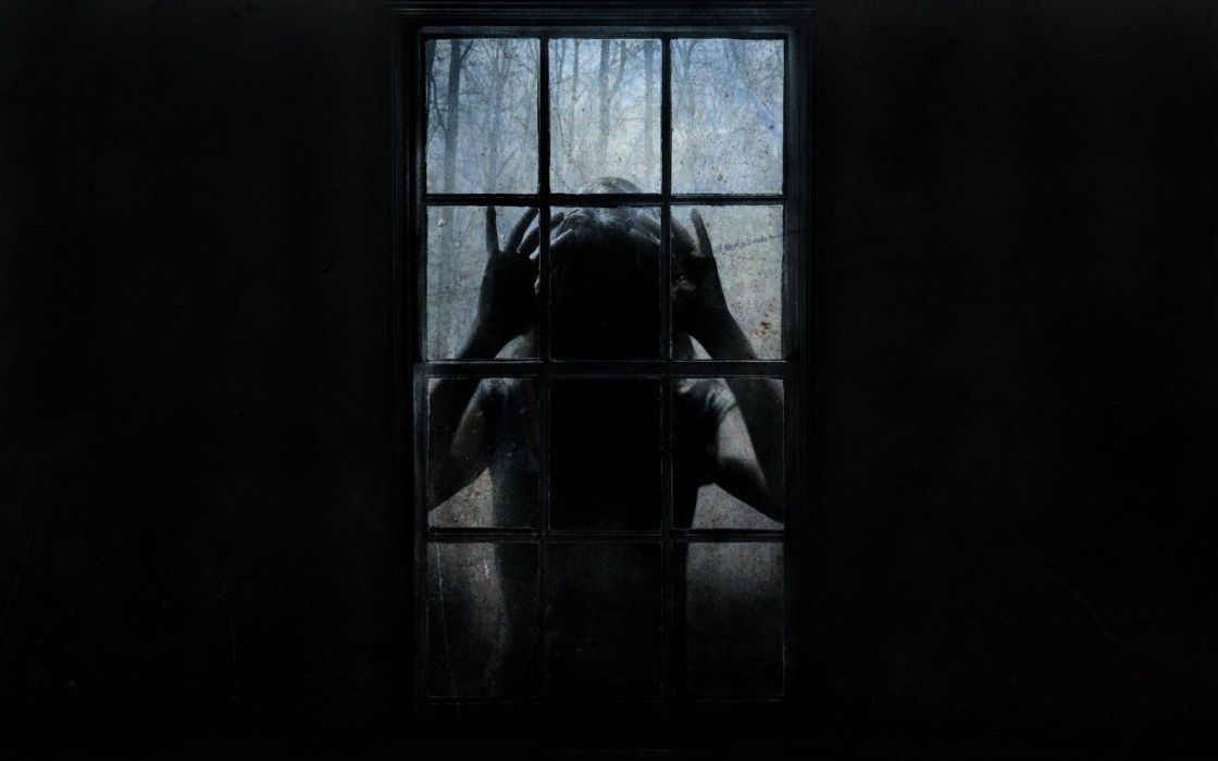 dark scary window wallpaper