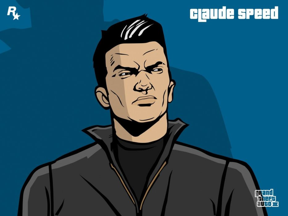 cartoons Grand Theft Auto artwork claude speed Grand Theft Auto III wallpaper