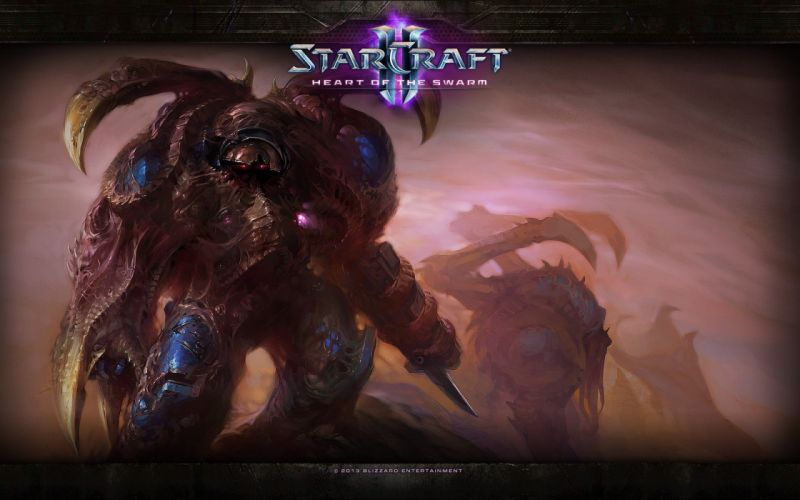 video games StarCraft science fiction Starcraft II: Heart of the Swarm StarCraft II wallpaper