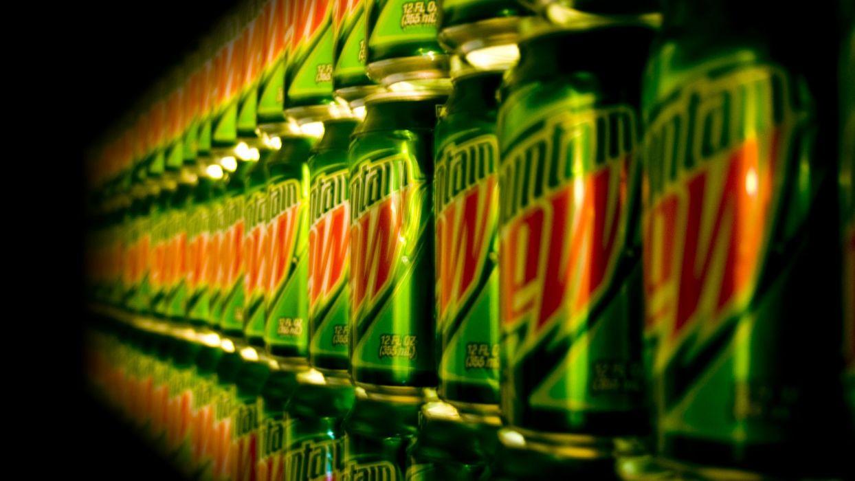 Mountain Dew soda cans wallpaper