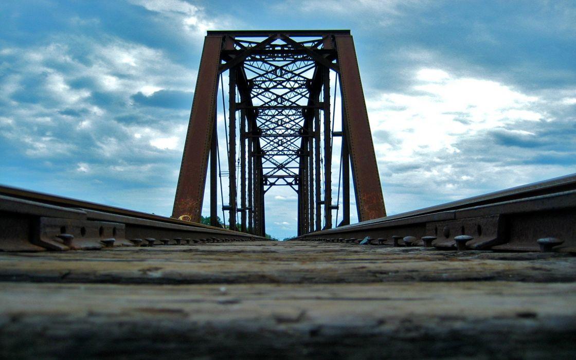 bridges railroad tracks wallpaper