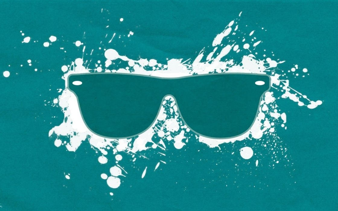 minimalistic white glasses digital art simple background splashes wallpaper