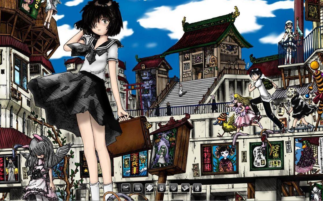 school uniforms anime Mysterious Girlfriend X sailor uniforms wallpaper