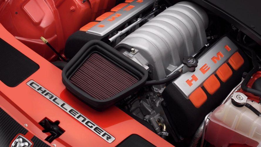 cars engines Dodge Challenger SRT hemi wallpaper