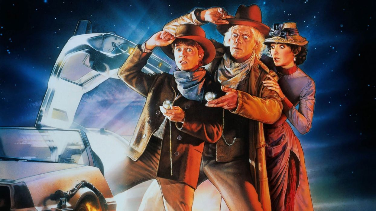 movies Back to the Future Doc Brown Marty McFly wallpaper