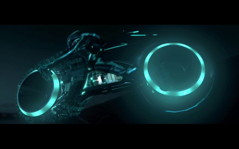 movies Tron Legacy vehicles motorbikes lightcycle wallpaper