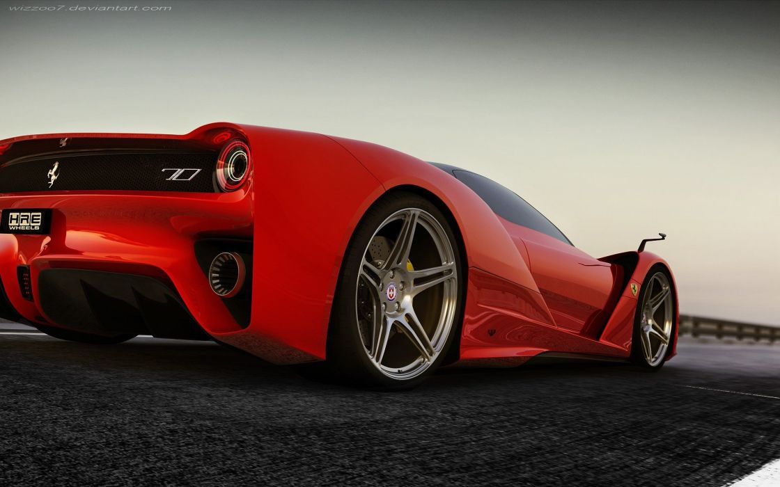 cars F70 concept featuring HRE P47SC wallpaper