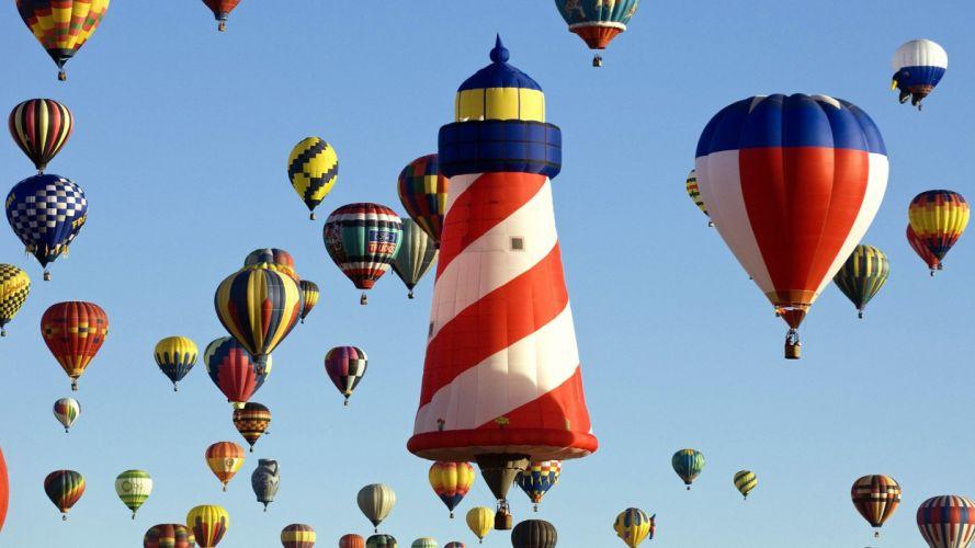 fiesta hot air balloons New Mexico wallpaper