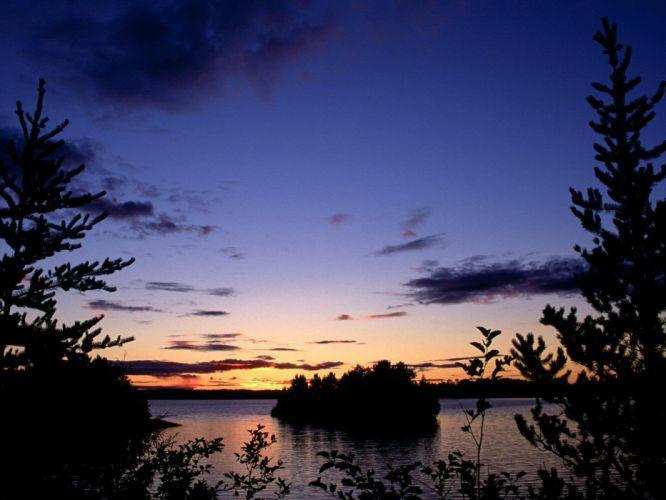 landscapes nature Canada lakes parks wallpaper