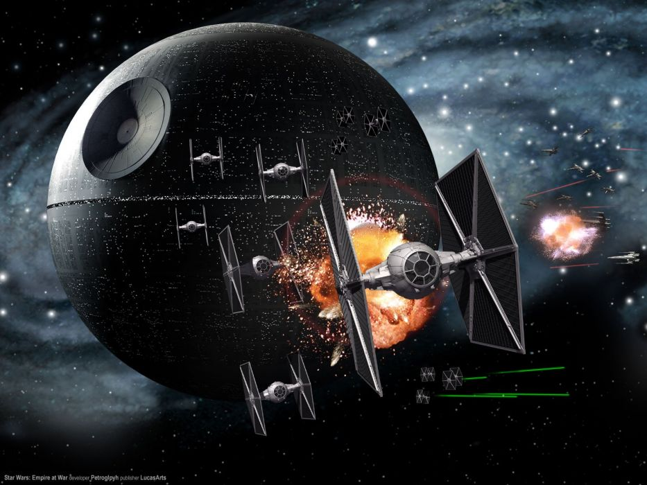 Star Wars Death Star Tie fighters wallpaper