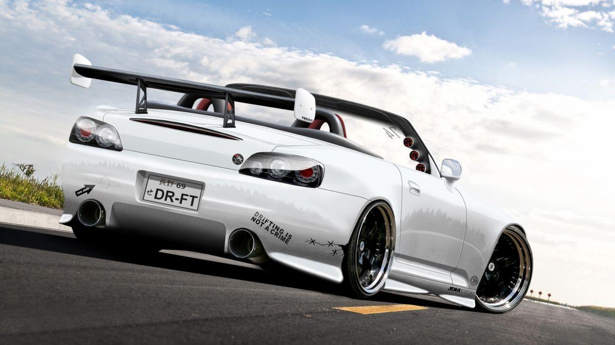 white cars Honda S2000 wallpaper