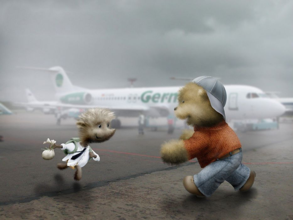 aircraft travel teddy bears wallpaper