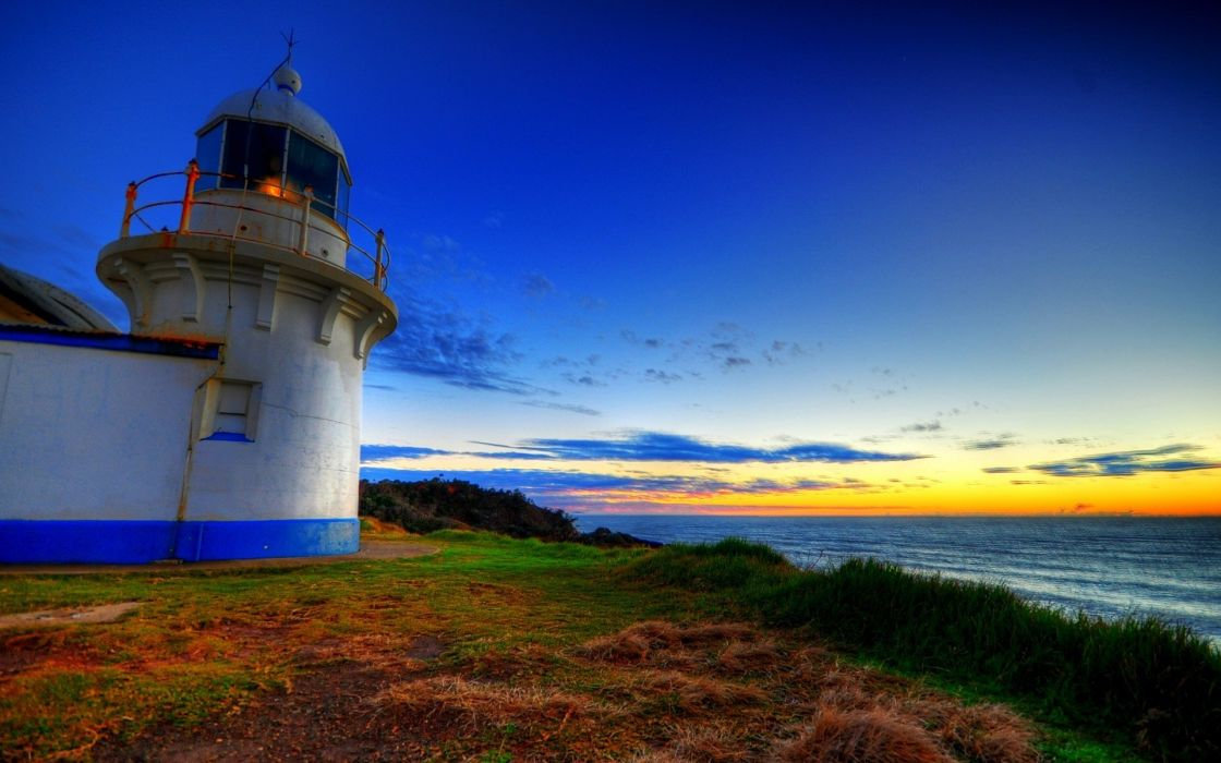 landscapes valleys lighthouses skyscapes sea wallpaper