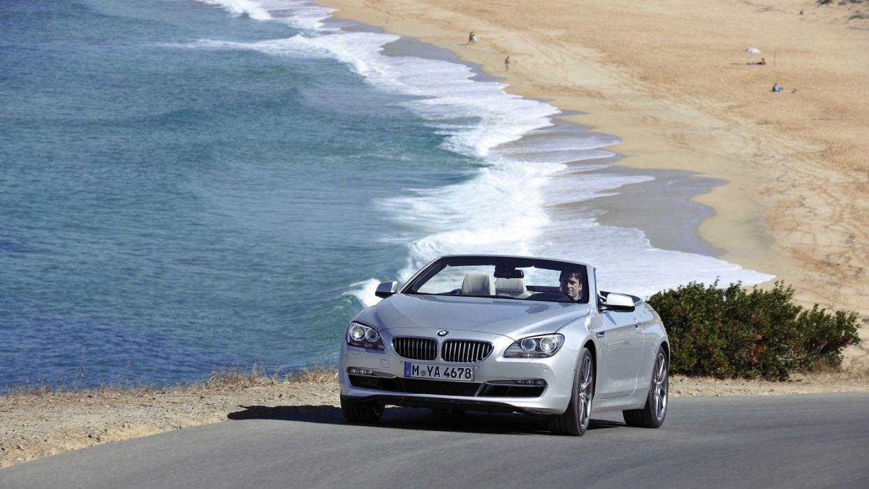 cars BMW 6 Series beaches wallpaper
