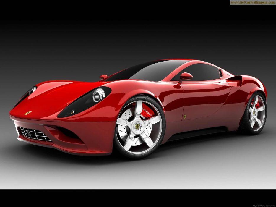 cars concept art Ferrari Dino Concept wallpaper