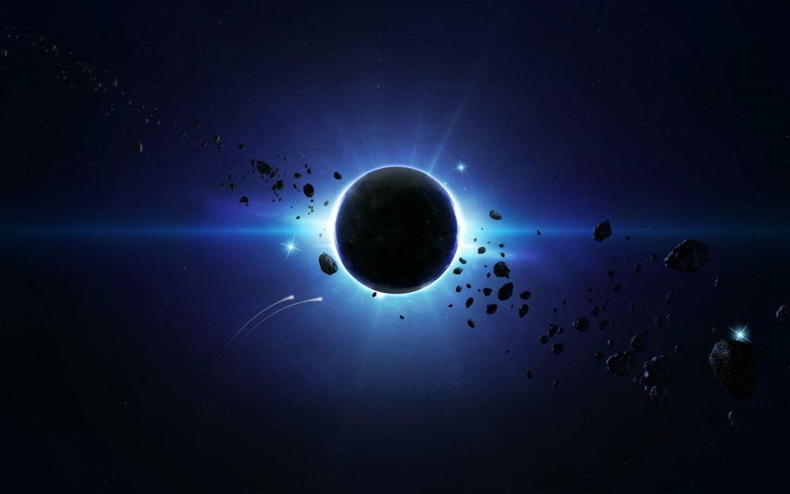 outer space eclipse the universe journey wallpaper