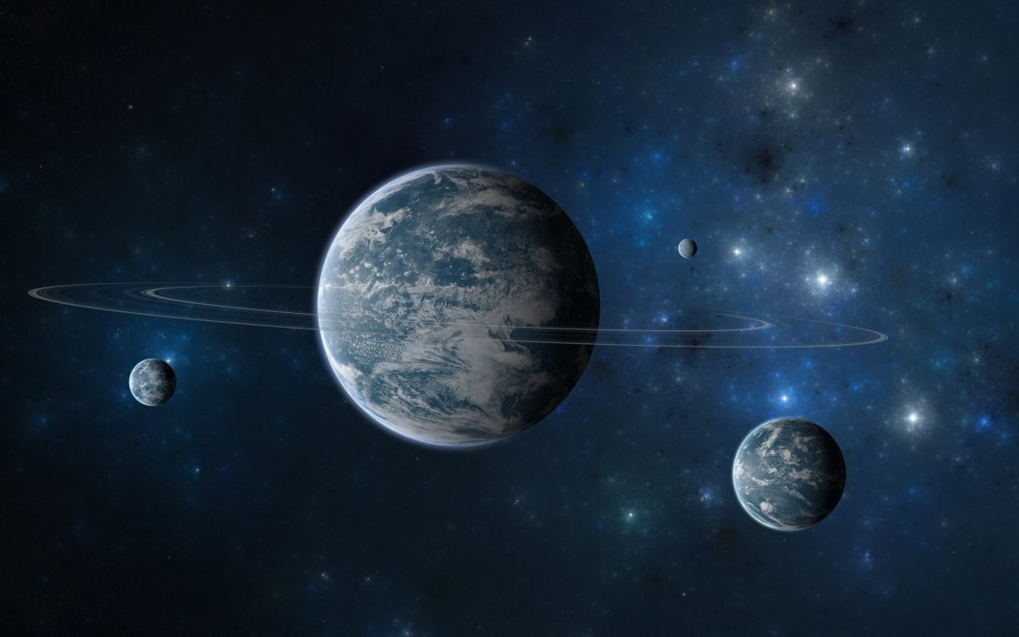 outer space planets artwork wallpaper