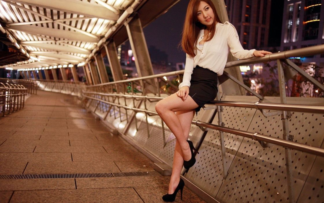 women Asians HDR photography wallpaper
