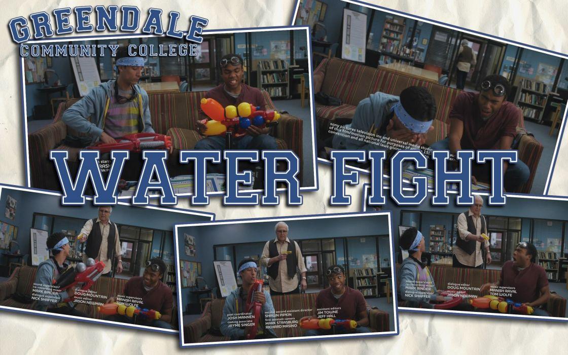 water fight Community NBC wallpaper