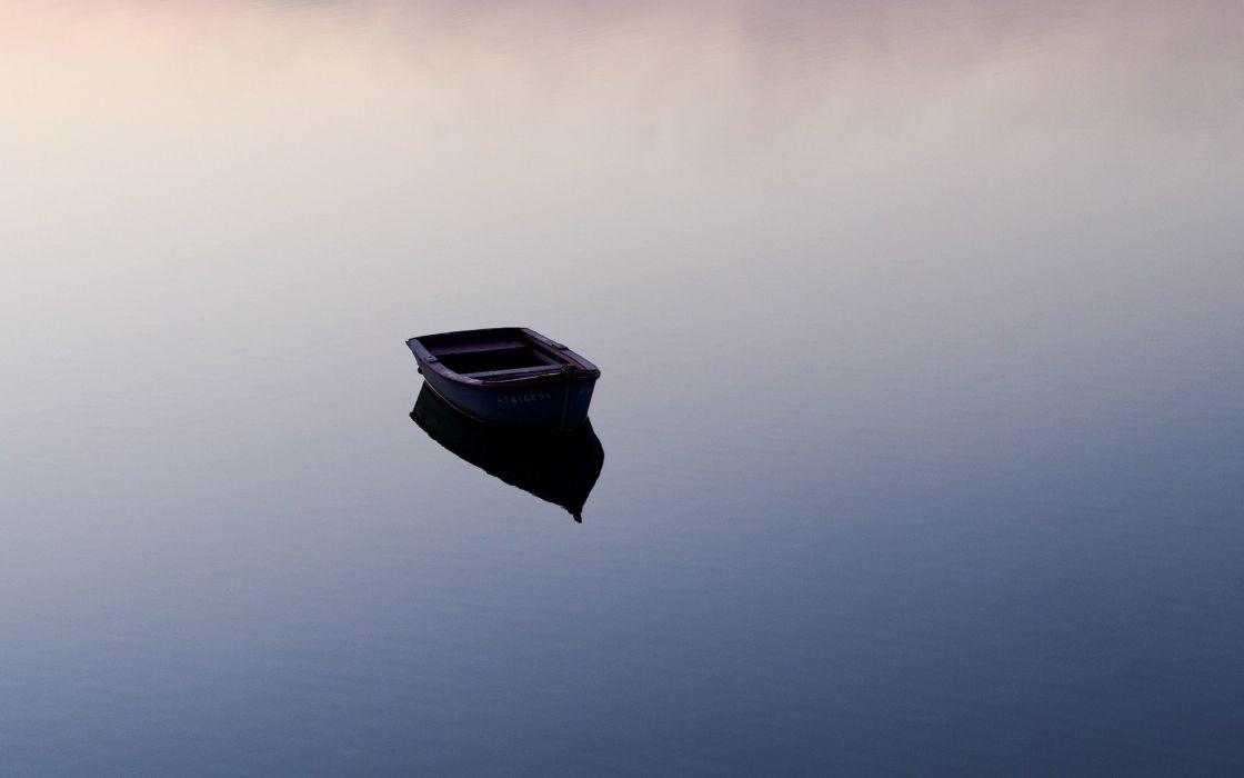 water nature calm lakes row boats wallpaper