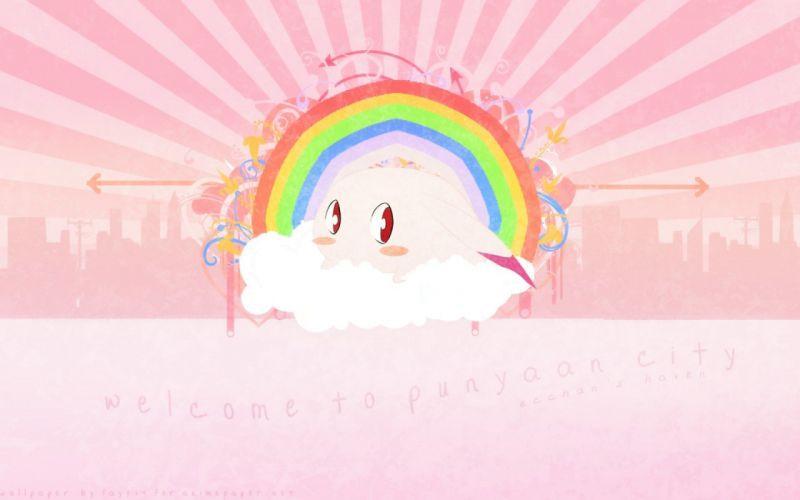 multicolor pink animals rainbows wallpaper