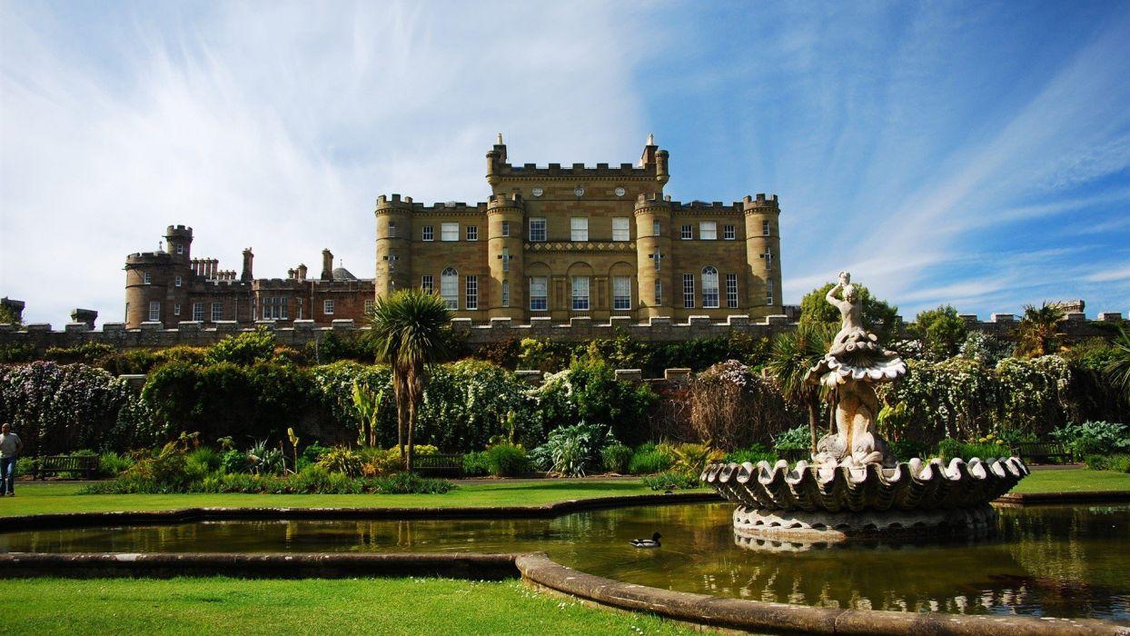 landscapes castles architecture buildings Scotland castle wallpaper