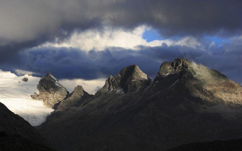 landscapes glacier Peru range wallpaper