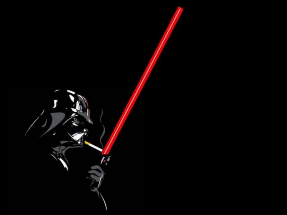 lightsabers Darth Vader cigarettes black background wallpaper