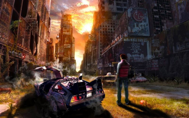 Back to the Future I Am Legend apocalyptic wallpaper