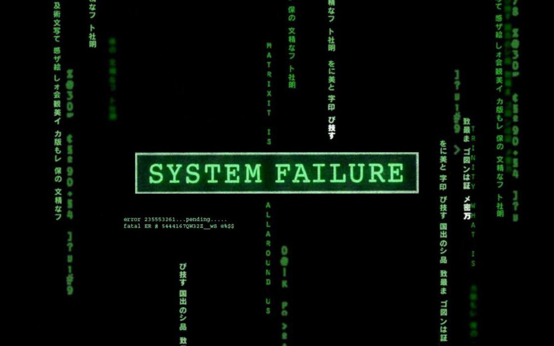 computers Matrix system failure wallpaper
