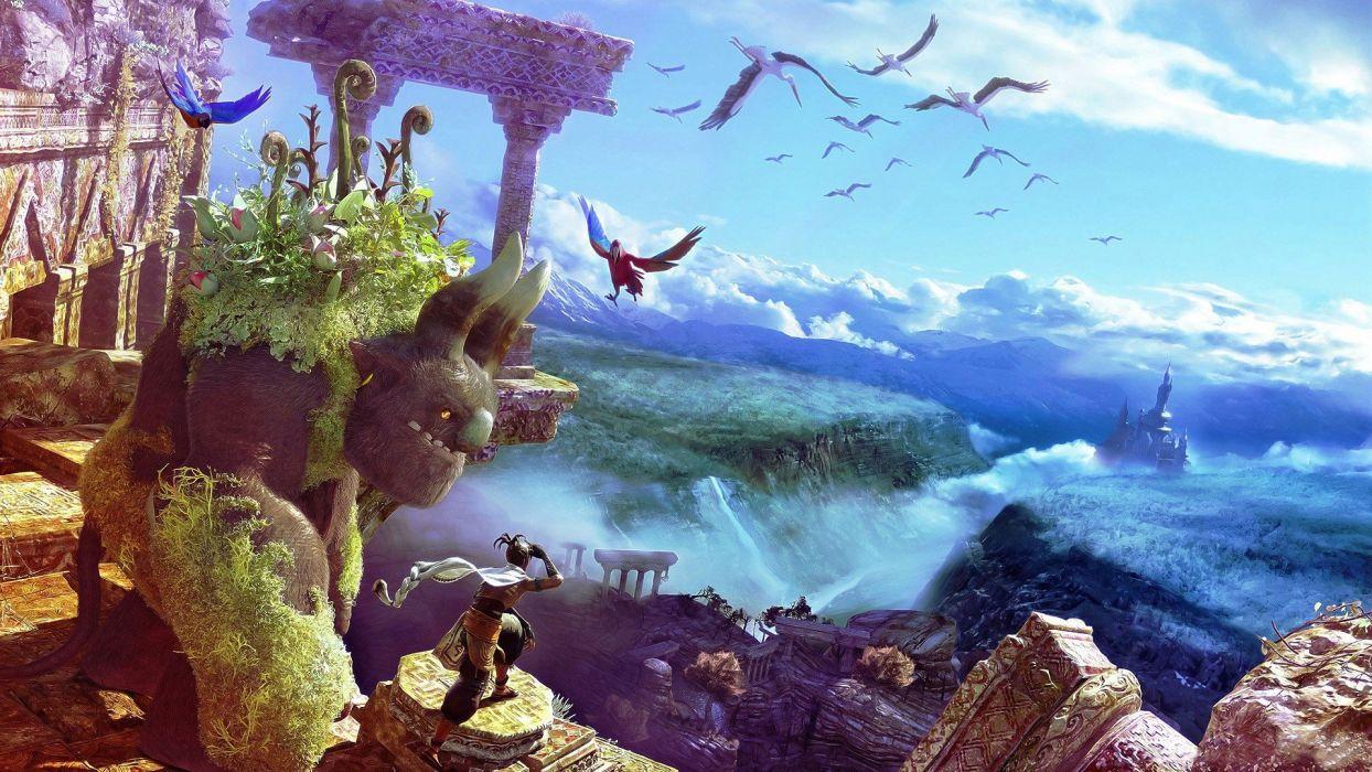 birds fantasy art wallpaper