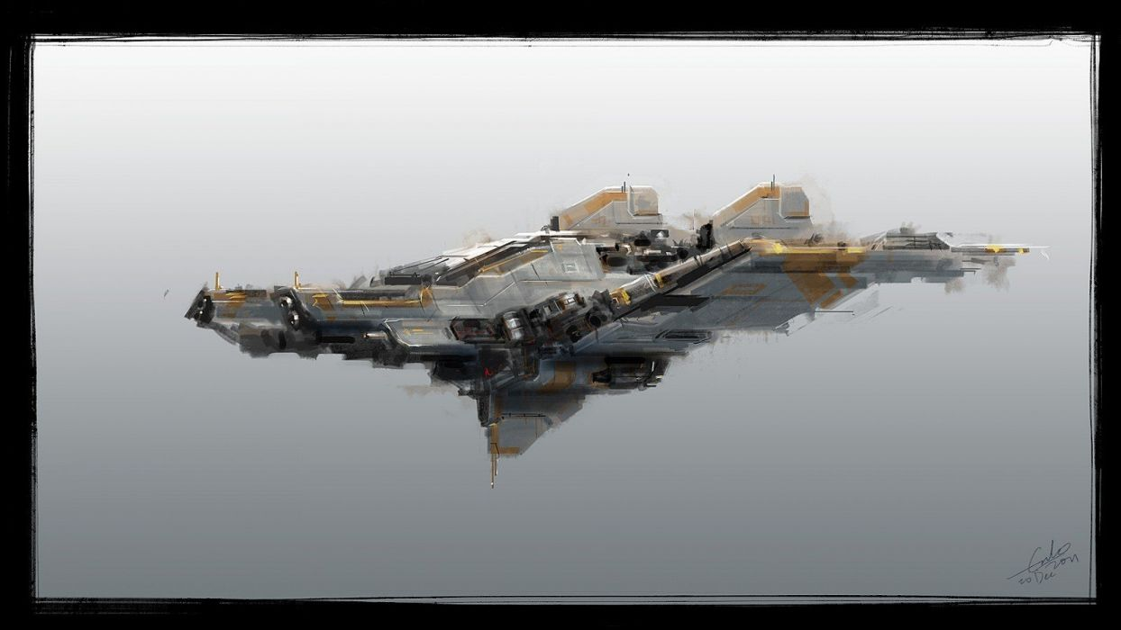 aircraft futuristic artwork wallpaper