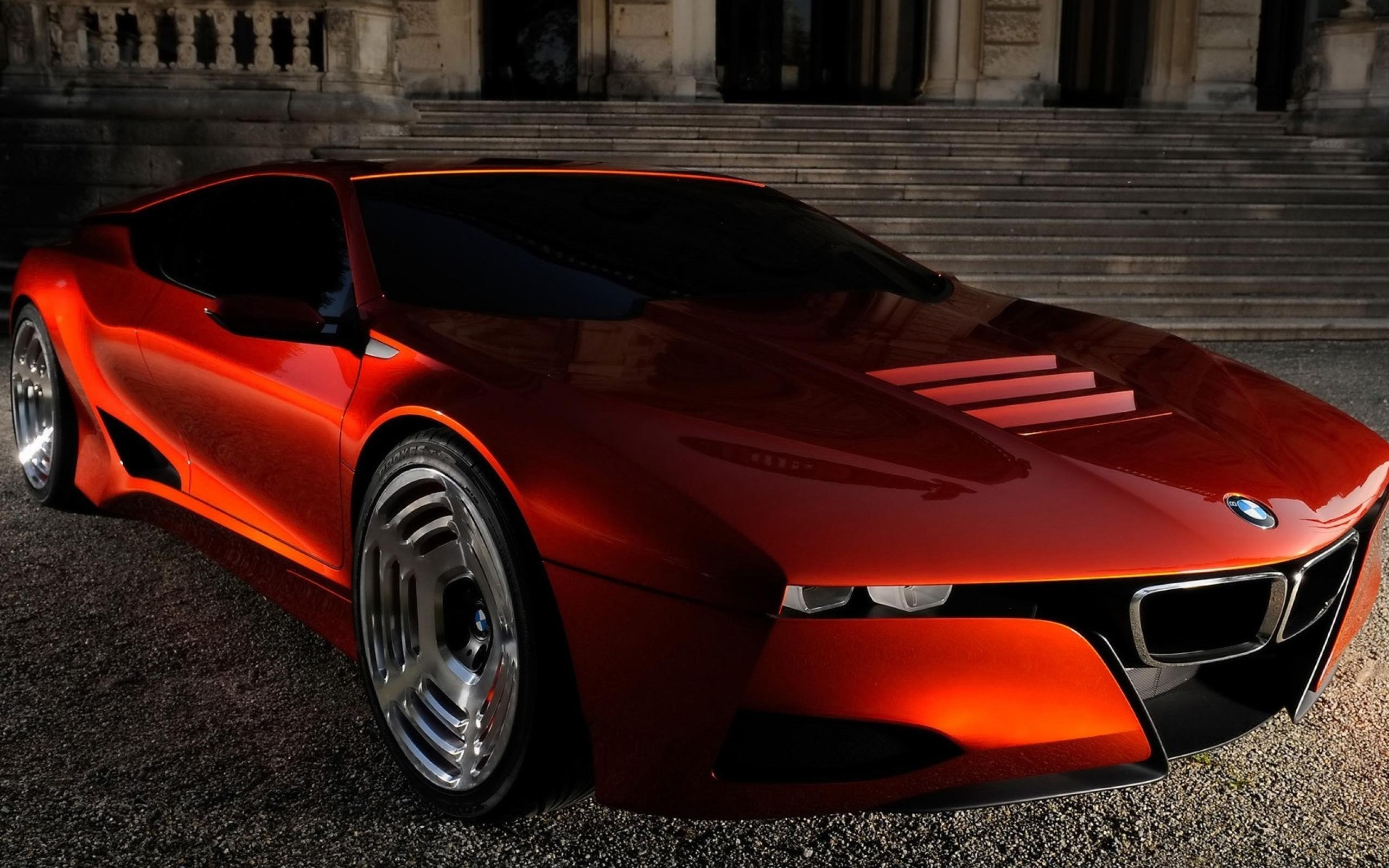 bmw futuristic concept art concept cars sports cars orange cars bmw m1 future cars wallpaper 2560x1600 300855 wallpaperup - Sports Cars Of The Future
