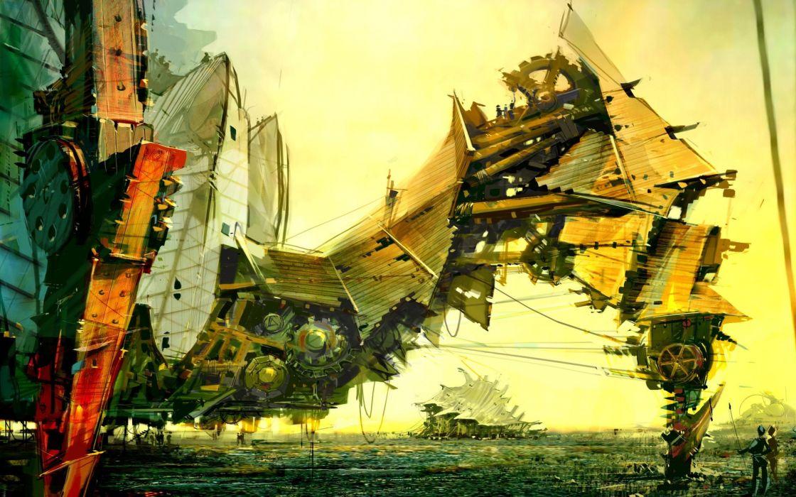 steampunk Daniel Dociu wallpaper
