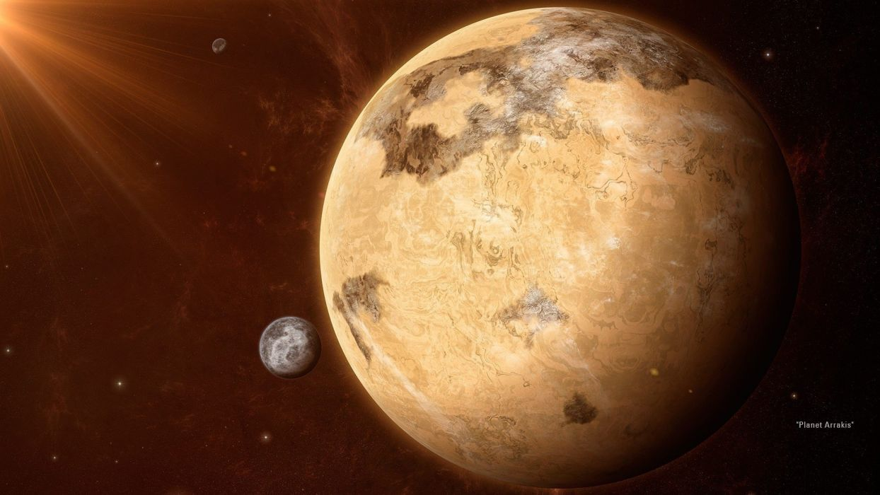 light planets artwork space wallpaper