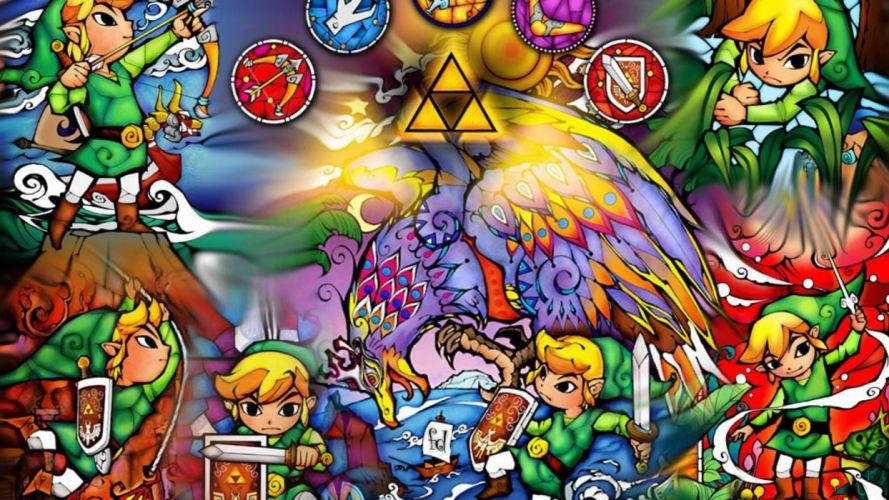 video games Link triforce The Legend of Zelda wallpaper