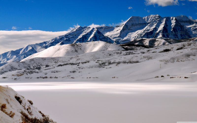 landscapes snow Utah Mount wallpaper