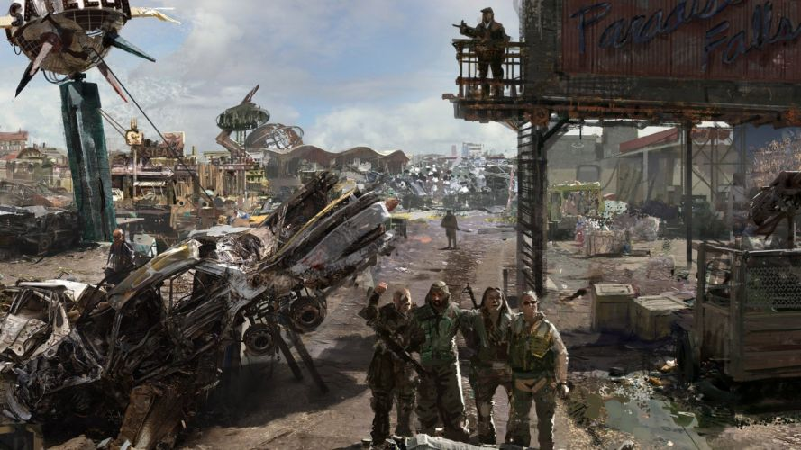 Fallout concept art wallpaper