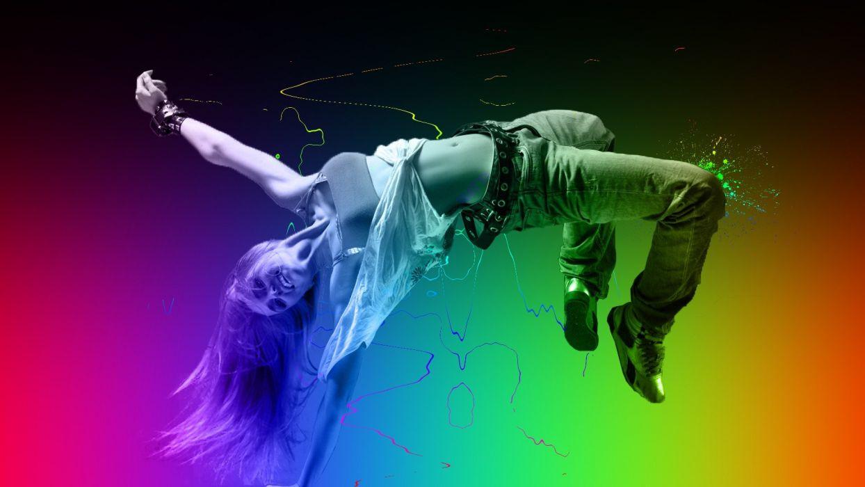 women abstract dance dancing colors wallpaper