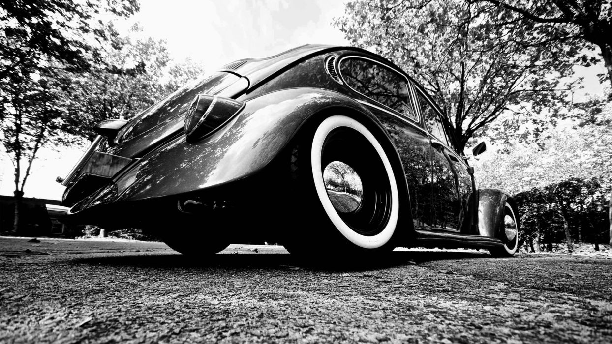 old future shiny Volkswagen Beetle wallpaper